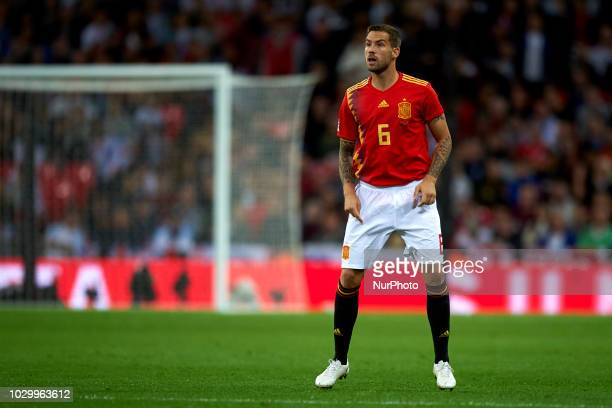 Inigo Martinez of Spain during the UEFA Nations League football match between England and Spain at Wembley Stadium in London on September 8 2018