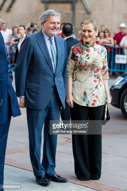 Inigo Mendez de Vigo and Cristina Cifuentes attend Bullfights at Las Ventas Bullring on June 16 2017 in Madrid Spain