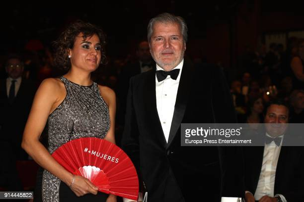 Inigo Mendez de Vigo and Dolors Montserrat attend the 32nd edition of the 'Goya Cinema Awards' ceremony at Madrid Marriott Auditorium on February 3...