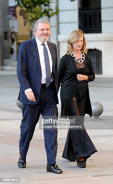 Inigo Mendez de Vigo and Maria Perez de Herrasti y Urquijo attend the opening of the Royal Theatre new season on September 22 2015 in Madrid Spain