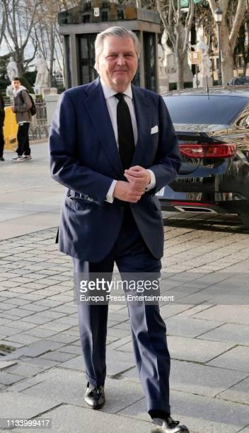 Inigo Mendez de Vigo arrives at Carmen Alborch's Tribute at Teatro Real on March 05 2019 in Madrid Spain
