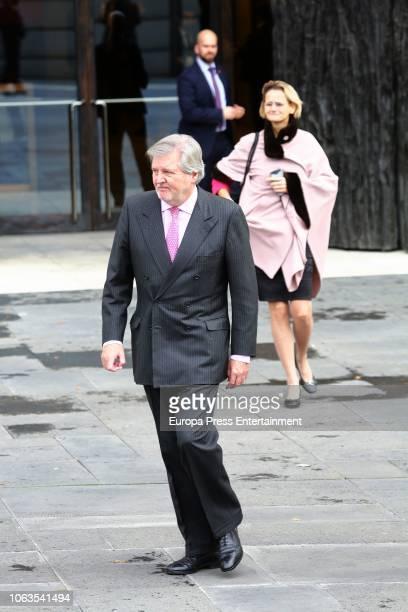 Inigo Mendez de Vigo arrives at the inaugural act of the bicentennial of the Prado Museum on November 19 2018 in Madrid Spain