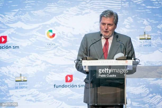 Inigo Mendez de Vigo attends the Literature awards 'Barco de Vapor' at 'Casa de Correos' on April 18 2018 in Madrid Spain
