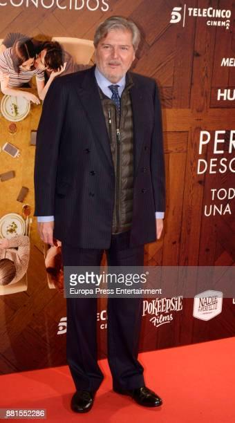 Inigo Mendez de Vigo attends the 'Perfectos desconocidos' premiere at Capitol cinema on November 28 2017 in Madrid Spain