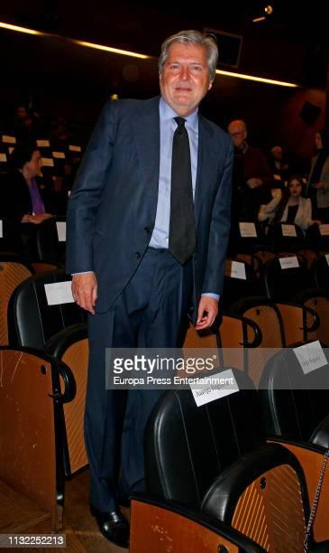 Inigo Mendez de Vigo attends the presentation of 'El sueno de Malinche' at the Prado Museum on February 25 2019 in Madrid Spain