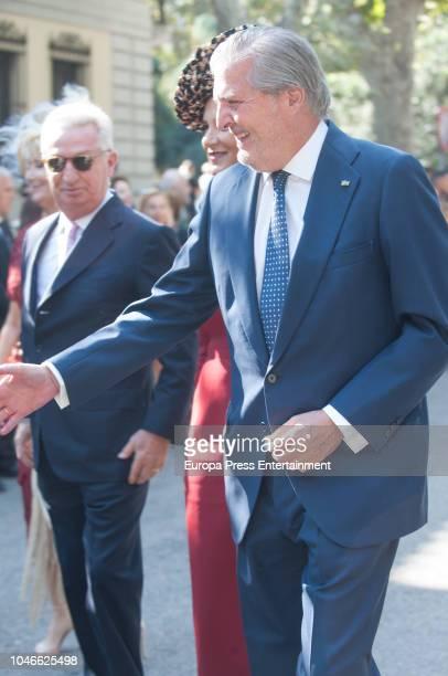 Inigo Mendez de Vigo attends the wedding of Fernando FitzJames Stuart and Sofia Palazuelo at Liria Palace on October 6 2018 in Madrid Spain