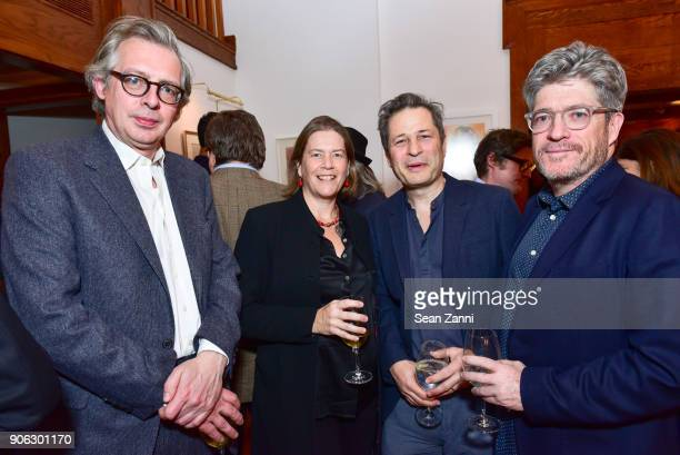 Inigo Thomas Ariadne CalvoPlatero Ed Pilkington and Peter Godwin attend publisher Henry Holt toasts Michael Wolff's 'Fire and Fury' at Private...