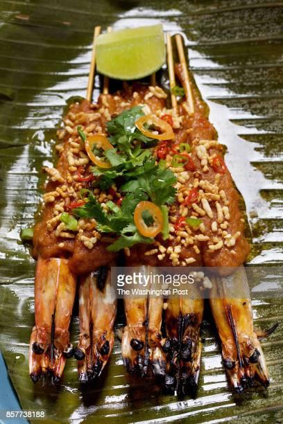 WASHINGTON DC Inihaw Na Sugpo Prawns Crab Fat and Habanero at Bad Saint photographed in Washington DC