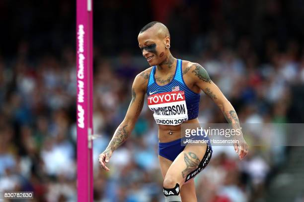 Inika McPherson of the United States competes in the Women's High Jump final during day nine of the 16th IAAF World Athletics Championships London...