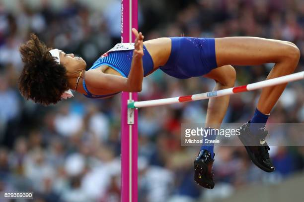 Inika McPherson of United States competes in the womens high jump Qualification during day seven of the 16th IAAF World Athletics Championships...