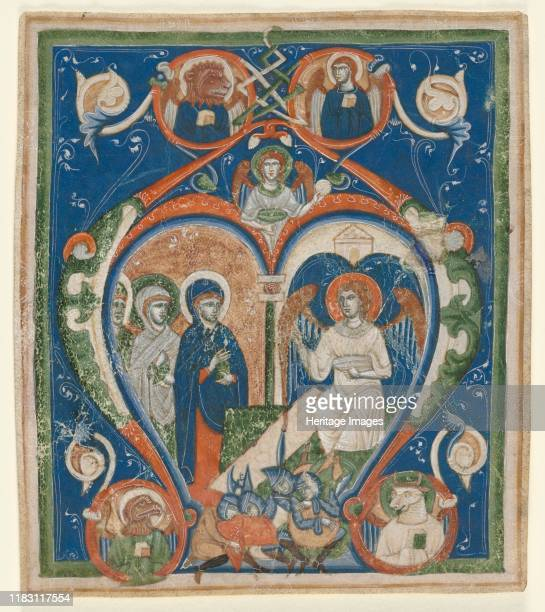 Initial A [ngelus Domini descendit] from an Antiphonary The Three Marys at the Tomb circa 12801300 This large initial A introduces the matins...