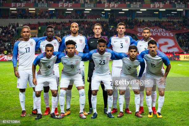 Initial eleven of USA during the International Friendly match between Portugal and USA at Estadio Municipal Leiria on November 14 2017 in Leiria...