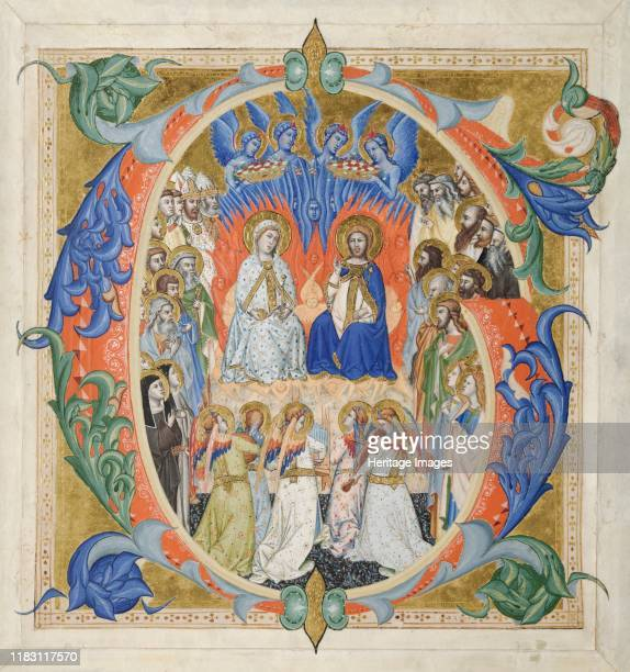 The Court of Heaven 137177 This elegant and colourful initial G comes from a multivolume set of choral books illuminated by Don Silvestro a...