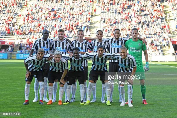 Initial lineup of Newcastle during the Preseason friendly between SC Braga and Newcastle on August 1 2018 in Braga Portugal