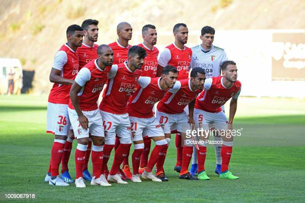 Initial lineup of SC Braga during the Preseason friendly between SC Braga and Newcastle on August 1 2018 in Braga Portugal