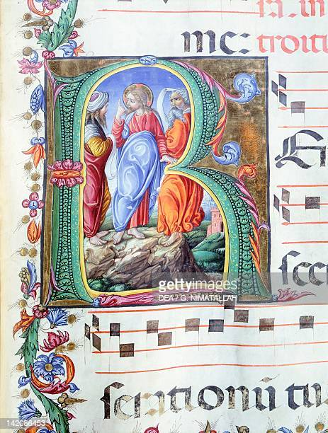 Initial miniature by Liberale of Verona from a medieval gradual 15th Century