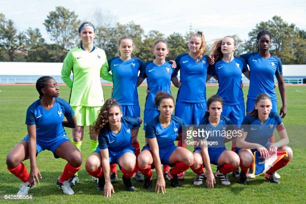Initial Team of France U16 Girls Mary Innebeer Emmy Jezequel Adeline Coquard Malaury Craff Julie Dufour Naomie Feller Oriane Jean Francois Assia...