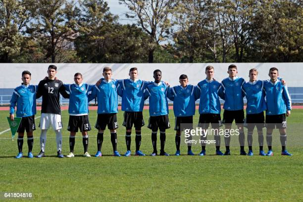 Initial team of Germany U16 Kaan Kurt Sebastian Hornung Patrick Finger Alexander Kopf Oscar Schönfelder MatondoMerveille Papela Oliver Bias Julian...