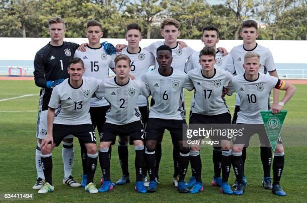 Initial team of Germany U16 Luca Unbehaun Alexander Kopf Max Brandt Ole Pohlmann Erkan Eyibil Antonis Aidonis Patrick Finger Jannis Rabold...