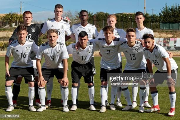 Initial team of Germany U17 Lino Kasten Jordi Bongard Kevin Bukusu Leon Sommer Tom Krauss Angelo Stiller Rene Biskup Oliver Bias Jonas Kehl Robin...