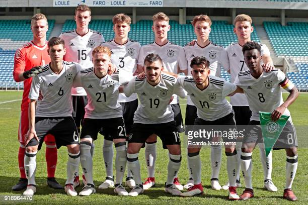 Initial team of Germany U17 Luca Unbehaun Jordi Bongard Louis Poznanski Niclas Knoop Lenny Borges Ole Pohlmann Tom Krauà Leon Sommer Erkan Eyibil...