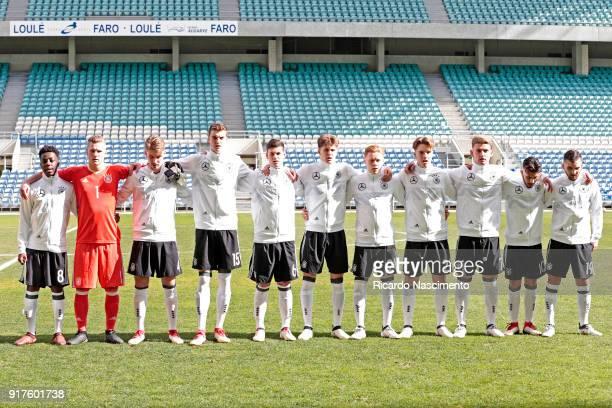 Initial team of Germany U17 Merveille Papela Luca Unbehaun Niclas Knoop Jordi Bongard Tom Krauß Louis Poznanski Leon Sommer Lenny Borges Ole Pohlmann...