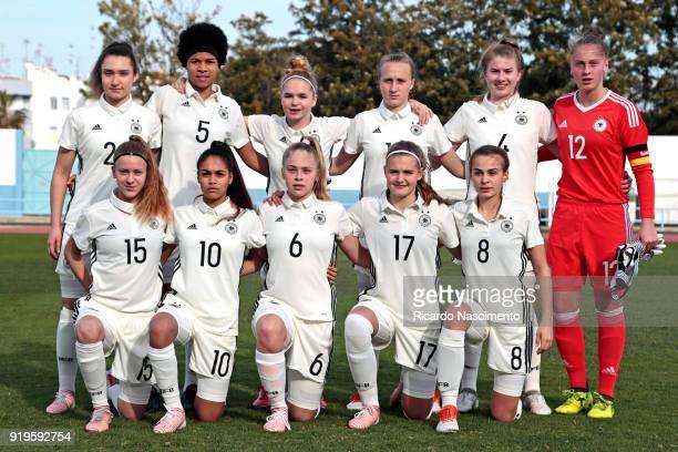Initial team of Girls Germany U16 /Back LR Sophie Weidauer Victoria Ezebinyuo LaraMarie Cordes Pauline Nelles Lina Vianden Pauline Nelles Samantha...