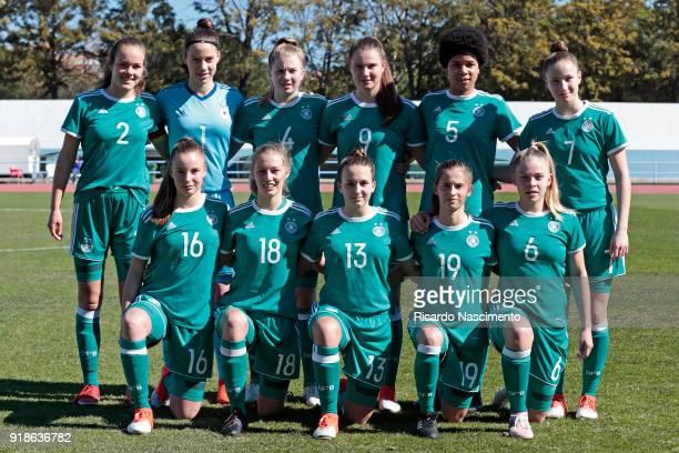 Initial team of Girls Germany U16 Donata von Achten Julia Kassen Lina Vianden Chiara Hahn Victoria Ezebinyuo Nicole Woldmann Jenny Beyer Sophie Krall...