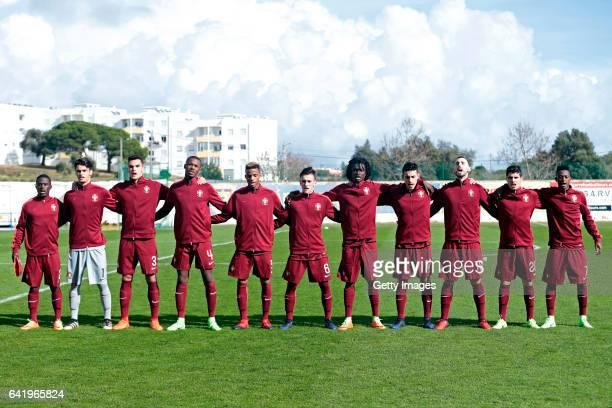 Initial team of Portugal U17 Mamadu Kone João Gonçalo Pedro Álvaro Tiago Djaló Gonçalo Costa Afonso Sousa Romário Baró Bernardo Sousa Daniel Simões...