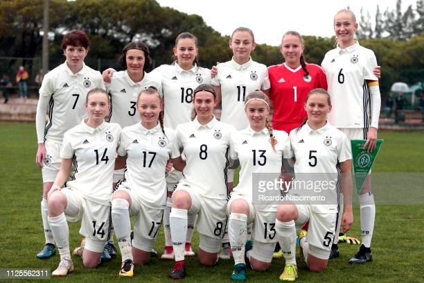 Initial team of U16 Girls Germany Back LR Leonie Stohr Luise Wildner Tuana Shanis Keles Trinity Kunzel Julia Matuszek Camilla Kuever Muriel Kroflin...