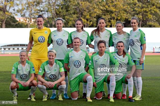 Initial team of VfL Wolfsburg Women Almuth Schult Zsanett Jakabfi Tessa Wullaert Sara Bjork Gunnarsdottir Lara Dickenmann Lena Goessling Pemille...