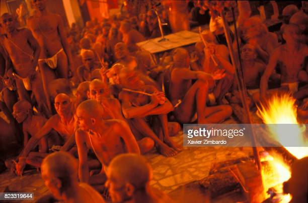 Initiation of the sadhu warriors called nagas can take place only during Maha Kumbh Mela the time when ceremonies are closed to laymen on April 14...
