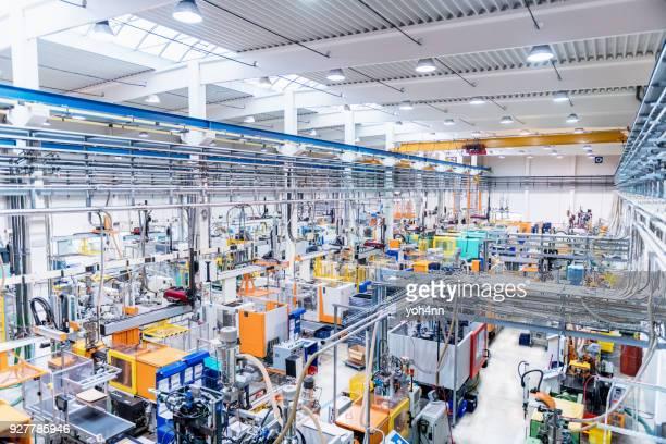 Injection molding & futuristic machinery
