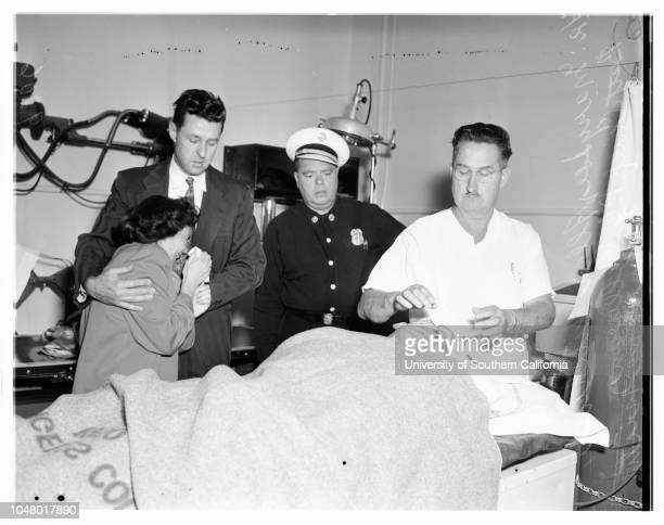 Injured fireman June 28 1951 John E Lee 28 years Sidel Gelbart Mary Lee 28 yearsAllan HitchcookMary Cullings PJ Sullivan Mrs Loretta ColonnaMore...