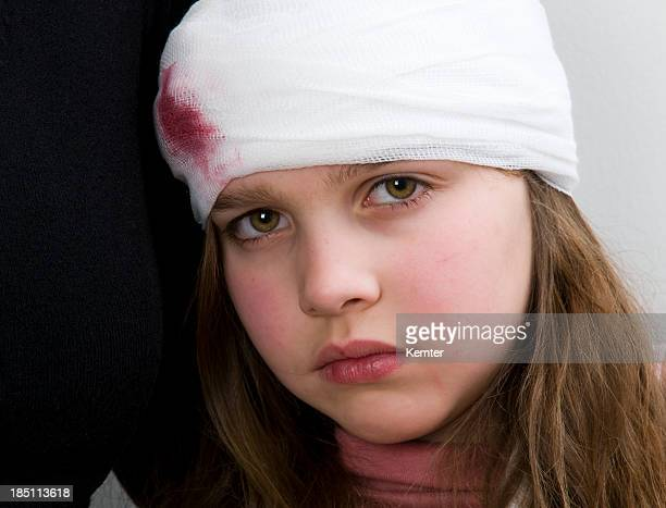 injured girl - head injury stock photos and pictures