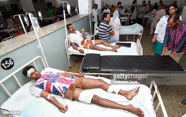 Injured in crude bomb explosion near a Tata Sumo carrying Buddha Amarnath pilgrims near the main bus stand in Poonch district being treated at GMC...