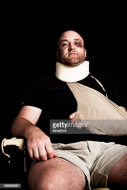 Verletzten Mann