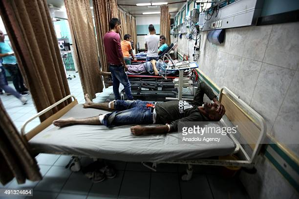 Injured Palestinians receive treatment at Jenin Hospital after the clashes with Israeli soldiers who entered the Jenin refugee camp and surrounded...