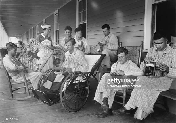 Injured Soldiers Walter Reed General Hospital Washington DC USA Harris Ewing 1918
