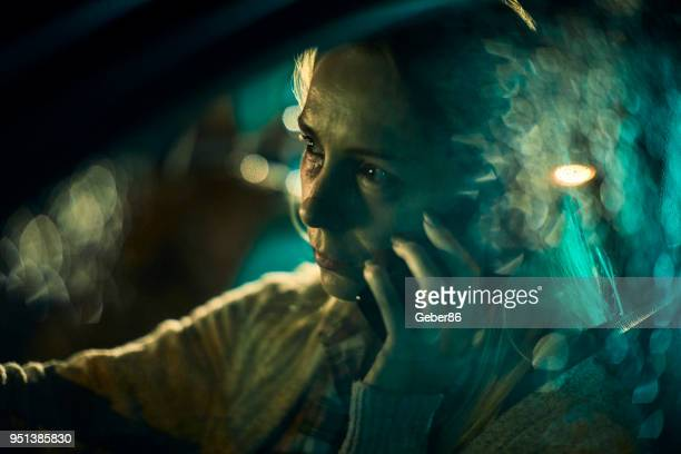 injured woman talking on the phone - gory car accident photos stock pictures, royalty-free photos & images