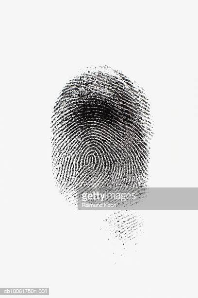 Ink fingerprint against white background