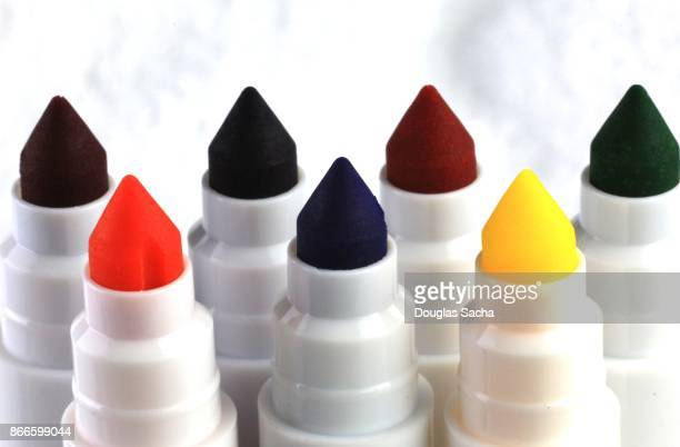 Ink highlighters of assorted colors