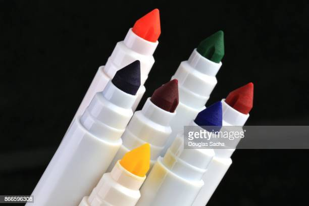 Ink pen markers of assorted colors