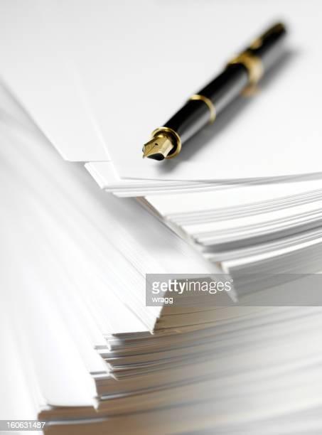 インクペンを紙
