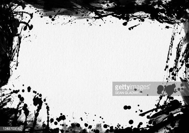ink splat border - dirty stock pictures, royalty-free photos & images