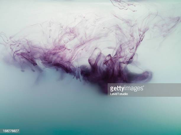 Ink spreading in the water