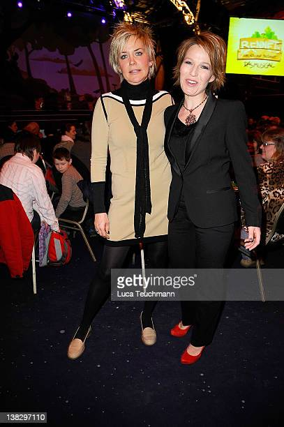 Inka Bause and Andrea Ballschuh attend the opening 'Bennets Abenteuer Beginnt' Musical Premiere at the at Estrel Convention Center on February 5 2012...