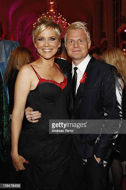 Inka Bause and Guido Cantz attend the Artists against Aids Gala 2011 at Theater des Westens on October 17 2011 in Berlin Germany