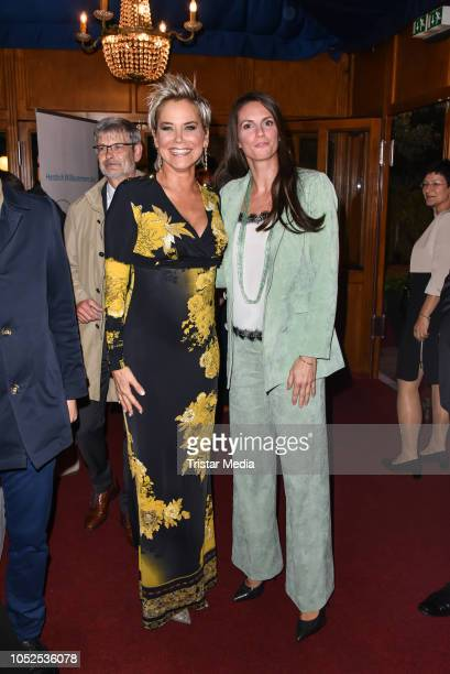 Inka Bause and Katrin Wrobel attend the 8th Diabetes Charity Gala at Tipi am Kanzleramt on October 18, 2018 in Berlin, Germany.