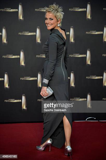 Inka Bause arrives at the 'Deutscher Fernsehpreis 2014' at Coloneum on October 2 2014 in Cologne Germany